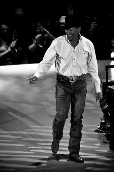 George Strait, the only man I have ever seen press his jeans... Such a good man.