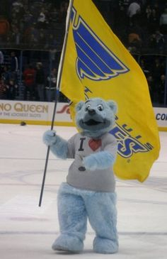 St.Louis Blues Mascot - Louie  Created by Street Characters Inc.