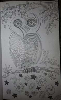 Zentangle Owl by: Tina Lonabarger