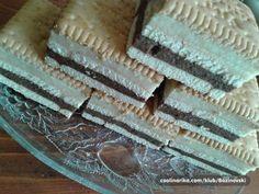 Nepečené sušenkové řezy připravené za 10 minut