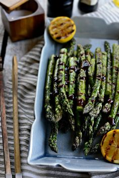 Grilled Asparagus with Balsamic Honey-Dijon Dressing l SimplyScratch.com  (19)