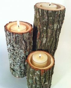 Rustic candle holders, rustic candles, candle holder set, diy c Rustic Candle Holders, Rustic Candles, Diy Candles, Outdoor Candles, Battery Candles, Rustic Wood, Floating Candles, Decorative Candles, Garden Candles