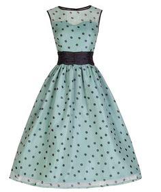 Lindy Bop Cindy Vintage Classy Yet Sassy Polka Dot Party Dress