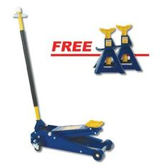 """Hein Werner HW93652A 3-Ton Heavy-Duty SUV Service Jack with a FREE 3-Ton Capacity Jack Stands by Hein-Werner. $537.99. Description    ? Low Height: 4"""", High Height: 23""""  ? Chassis Length: 30-3/4""""  ? Ideal for use on trucks and SUV's  ? 1-piece 50"""" long handle  ? Sealed pump reduces risk of damage  ? Custom lift arm for heavy-duty loads.  ? Universal joint for precise load control.  ? 2 Year Warranty  ? Made in the USA  ? FREE 3-Ton Capacity Jack Stands - Made i..."""