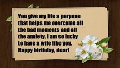 Lovely and Romantic birthday wishes for wife with love and Romance, birthday message for wife. birthday message in hindi for wife,husband Birthday Message For Wife, Birthday Wishes For Wife, Romantic Birthday Wishes, Birthday Wishes Messages, Wife Birthday, Happy Birthday, Letter Board, Give It To Me, Romance