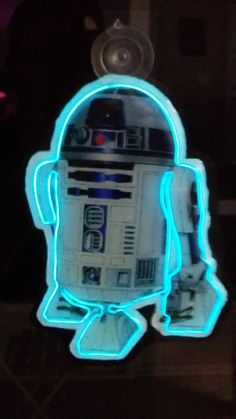 R2D2 Star Wars Edition Neon-Inspired Window Hang by SignScience
