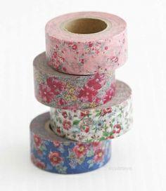 Mini Romantic Vintage Floral MASTÉ Japanese Washi Tape - NEW Maste Tape - Japanese Washi Tape