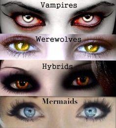 Zu den beliebtesten Tags für dieses Bild zählen: hybrid, mermaid, vampire, werewolf und eyes