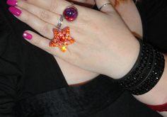 Creamsicle Dreamin Swarovski Star Ring by RainbowDarkCreations