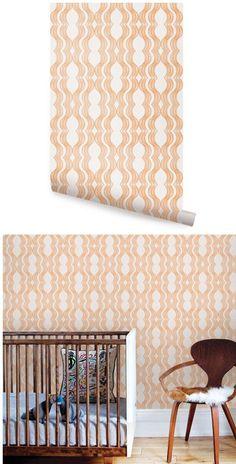 herringbone line orange peel and stick wallpaper - wall