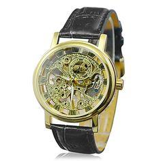 Hot! Mens Face Automatiske Luxury Steel armbåndsur Skeleton menn mekaniske ur 6 – NOK kr. 212