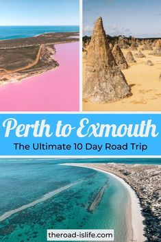 It's one of the best road trips in Western Australia featuring many of WA's highlights. From a bubble-gum pink lake to the otherworldly landscape of Pinnacles Desert and the incredible UNESCO listed Ningaloo reef, this Perth to Exmouth road trip itinerary is truly one of the best hidden gems of Australia! #australia #roadtrip #perthtoexmouth Brisbane, Melbourne, Sydney, Australia Travel Guide, Perth Australia, Visit Australia, Western Australia, Road Trip Essentials, Road Trip Hacks