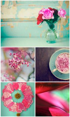 colour palette : jade and cerise - curated by Emma Lamb