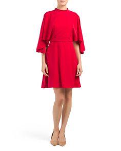 Cold+Shoulder+Flared+Skirt+Dress