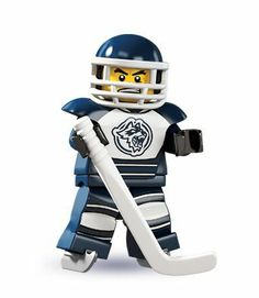 Lego minifigures: Hockey player. Jack would LOVE these.
