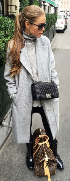 Maria Kragmann Gray On Black Fall Inspo Source