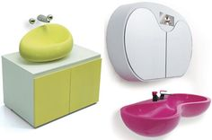 Leave it to Karim Rashid to bring bath fixtures to the future. He partnered with Saturn Bath Company in Korea to create the collection in which he plays with color and shapes and takes these pieces to the next level.