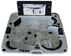 Catalina Spas integrates 61-inch LCD TV into jacuzzi