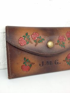 Vintage tooled leather