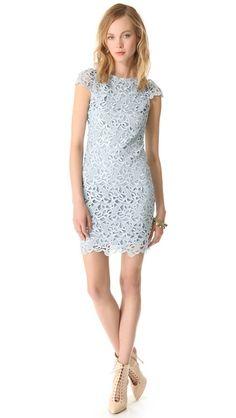 lace cap sleeve dress / alice + olivia