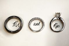 mr & mrs wedding rings