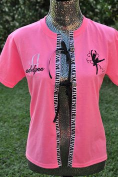 Dance Recital Costume CoverUp by EmbroiDeLisDesigns on Etsy Dance Mom Shirts, Dance Recital Costumes, Dance Crafts, Dance Accessories, Cheer Dance, Dance Company, How To Make Clothes, Dance Photography, Dance Moms