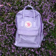 7fe155d6a9a Fjallraven kanken Classic lavender/lilac purple backpack. My - Depop Cute  Patches, Cute