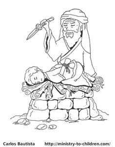 Abraham and Issac coloring page.   Bahaha I have no clue why I'm laughing but this is the most morbid coloring page I've ever seen!