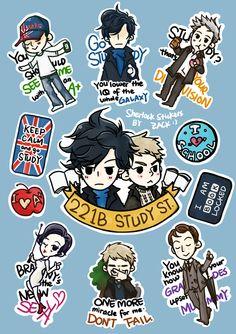 "Sherlock stickers! . ""Zack"""