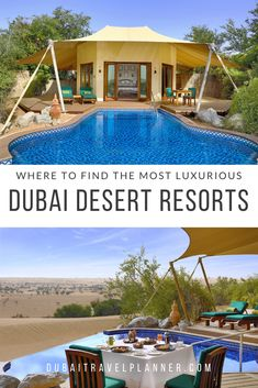 Ultimate guide to Dubai's most stunning desert resort locations and nearby Emirates Plus other glamping options to experience the desert and Arabian luxury in the UAE Dubai Resorts, Dubai Vacation, Dubai Hotel, Dubai Travel, Hotels And Resorts, Dream Vacations, Luxury Resorts, Dubai Information, Desert Resort