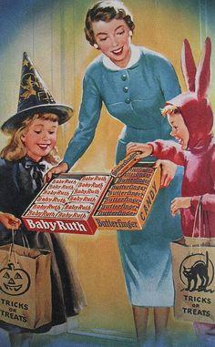 Vintage Halloween Ads Photo 7.  Como la madre de la lata de Cola Cao, pero en anuncio de Halloween :)