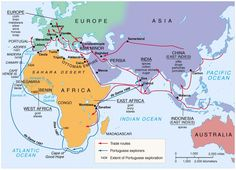 Portuguese exploration and trade routes.
