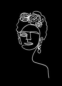 Frida Kahlo BW by Julia Hariri | #Celebrities #Black #White #FridaKahlo #Painters #Artists #White #Black #JUNIQE | See more designs at www.juniqe.co.uk