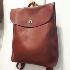 Leather rucksack by Wolfram lohr