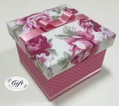 Caixa mdf rosa floral