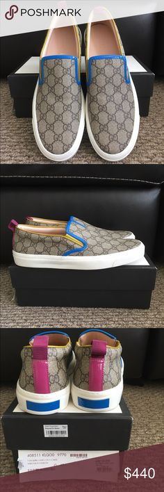 Gucci GG Canvas sneakers Gucci GG Canvas Slip On Sneakers Gucci Shoes Sneakers