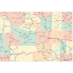 Scalable online Utah road map and regional printable road maps of Utah. Utah Map, Antelope Island Utah, Monument Valley Utah, The States Of America, Summer Worksheets, Highway Map, Road Trippin, Lake City, Cards