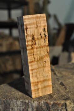 """High Figure Maple Hunting Call/ Carving Blank  6"""" x 1.625"""" x 1.625"""" Woodworking"""