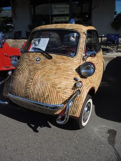The Ultimate Wine Cork Craft: A Cork Covered Car » Curbly | DIY Design Community