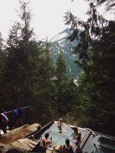Omg need this// Mountains, jacuzzi, relaxation//