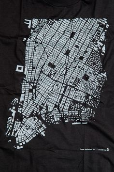 Cartography  white on black