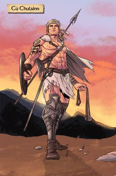 Comics are no strangers to legends and mythological heroes, and comic artist Will Sliney (Farscape, Pigs) is reaching back into his own Irish heritage to tell the story Cú Chulainn. Celtic Fantasy Art, Fantasy Art Men, Fantasy Warrior, Celtic Heroes, Celtic Warriors, Irish Warrior, Viking Warrior, Character Inspiration, Character Art