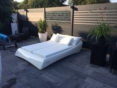 www.dutchbed.com Outdoor Sofa, Outdoor Furniture, Outdoor Decor, Sun Lounger, Color, Design, Home Decor, Terrace, Chaise Longue