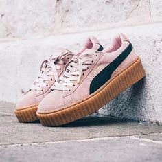 JUST IN!  Say hello to the PUMA X Rihanna Suede Creeper in Coral Pink!  Hurry, these LIMITED EDITION kicks are sure to sell out ✌️Shop th