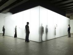 antony gormley - Blind Light. Experienced this at the Hayward and it was fantastic and very disorientating