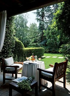 Great outdoors: The patio outside a guest room... http://dailym.ai/1n4ewnt#i-ae740e91