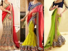 Here are 5 different styles of blouse that go well with your wedding lehengas.