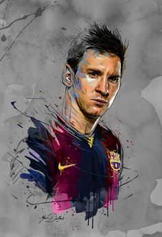 My painting of Lionel Messi for his fifth Ballon d'Or