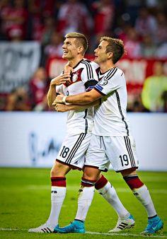 Kroos and Götze celebration! Sweet pair! 7.9.15