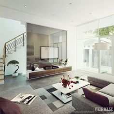Bright Modern Living Rooms Living Room Moderncontemporary